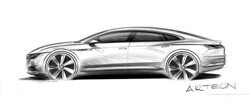 Volkswagen Arteon - Schets (Foto: Volkswagen)