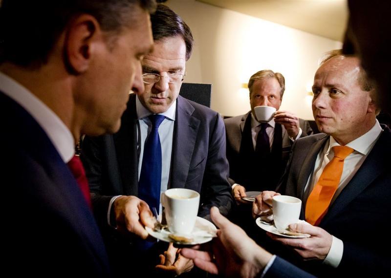 Rutte liefst in zee met CDA en D66
