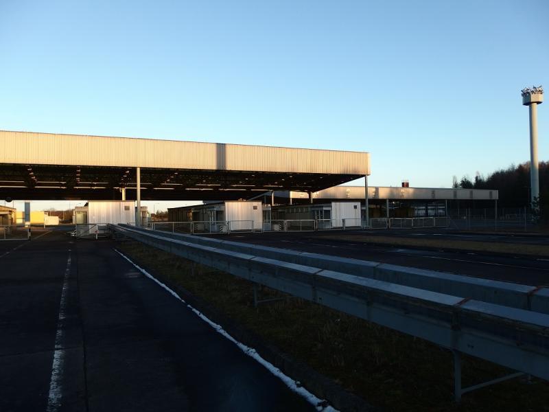 Voormalige oost/west-Duitse grensovergang bij Helmstedt-Marienborn (Foto: Blind_Guardian)