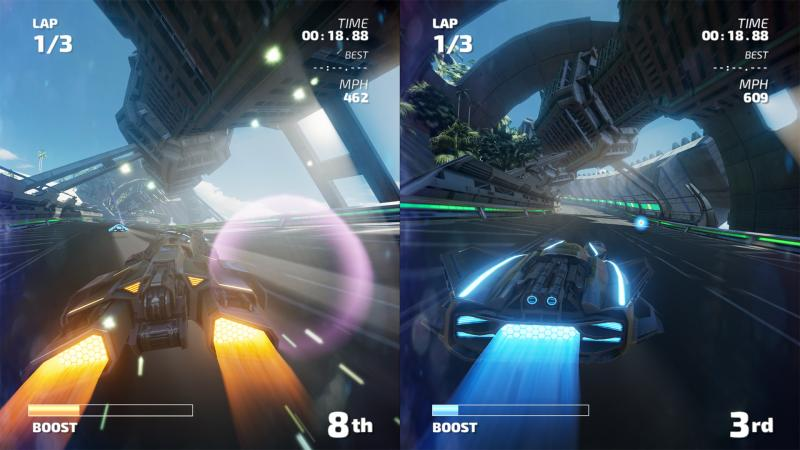 Fast RMX - screenshot splitscreen
