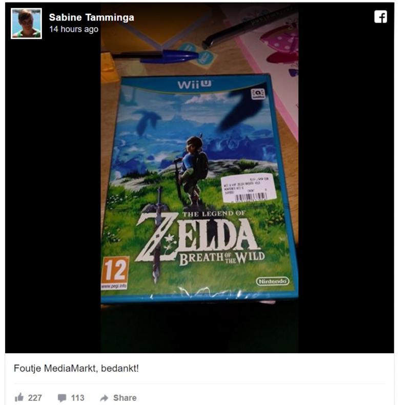 Zelda beetje vroeg