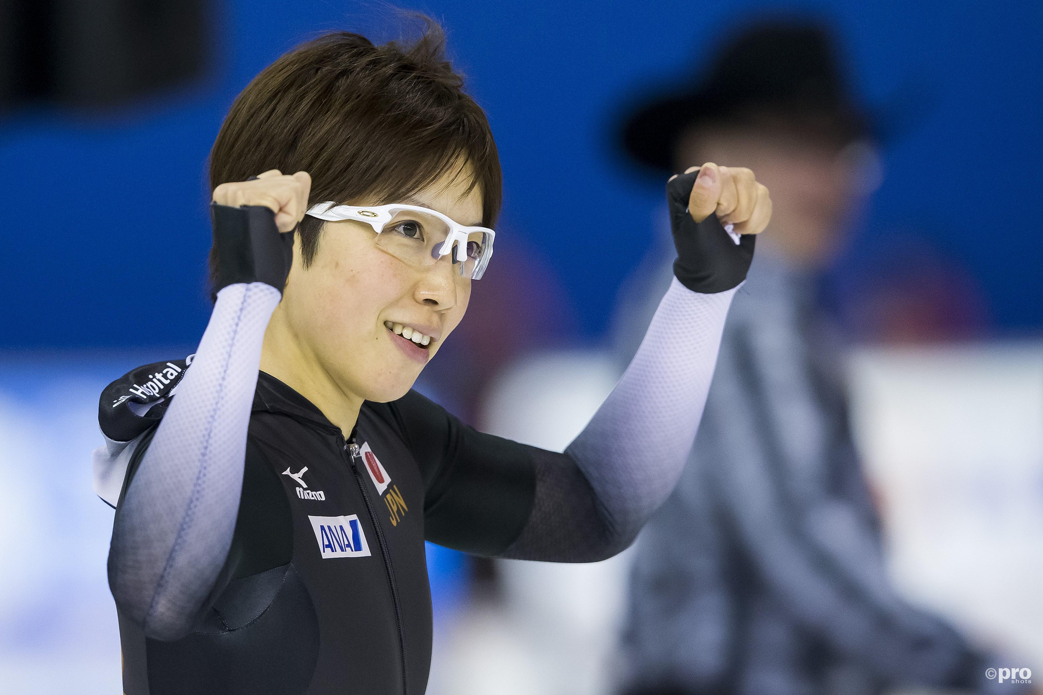 Nao Kodaira is de nieuwe wereldkampioen sprint. (PRO SHOTS/Erik Pasman)