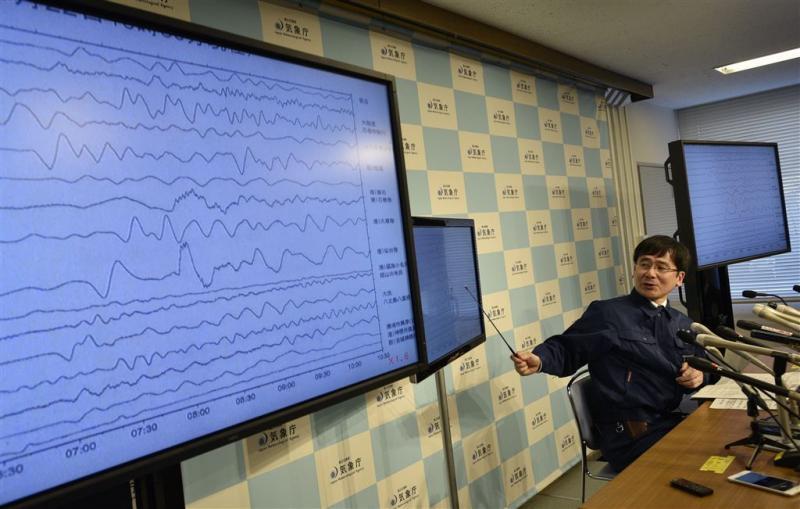 Zeebeving bij Fukushima
