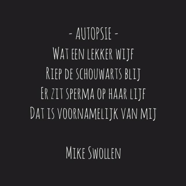 Gedicht van de dag: Autopsie (Foto: Mike)