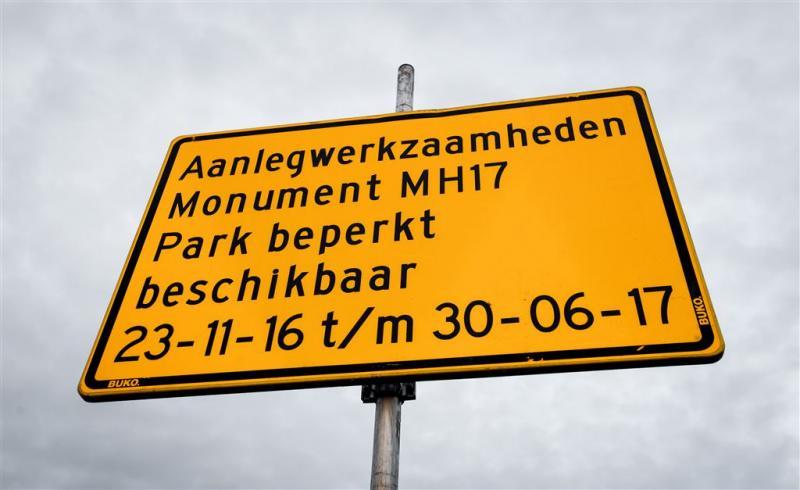 Bomen monument MH17 binnenkort de grond in