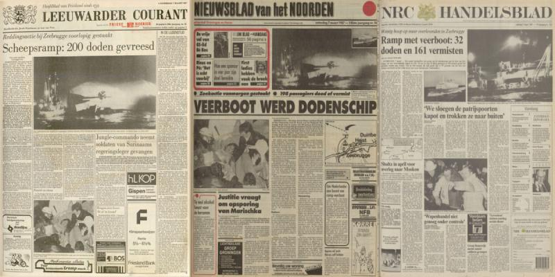 De kranten van 7 maart 1987