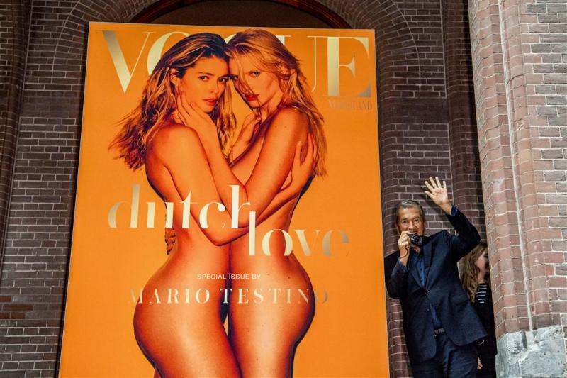 Doutzen en Lara uit de kleren voor Vogue