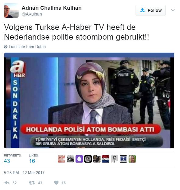 """Nederlandse politie gooide atoombommen"""