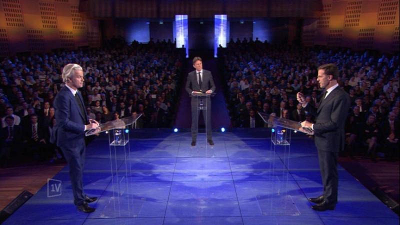 EenVandaag Debat Rutte en Wilders (Foto: EenVandaag)