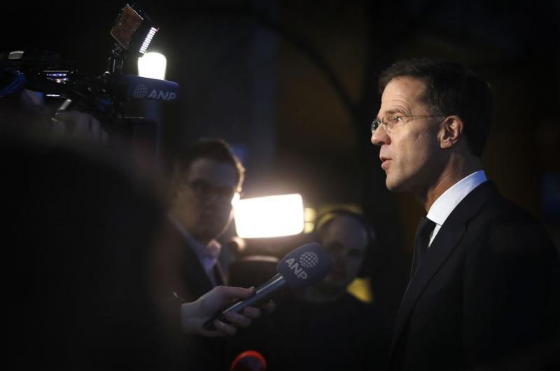 Rutte: verdrag Turkije nu niet ter discussie