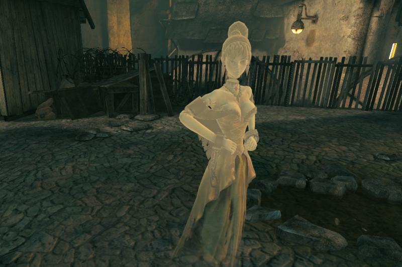 Lady Katarina met haar zwevende hoofd