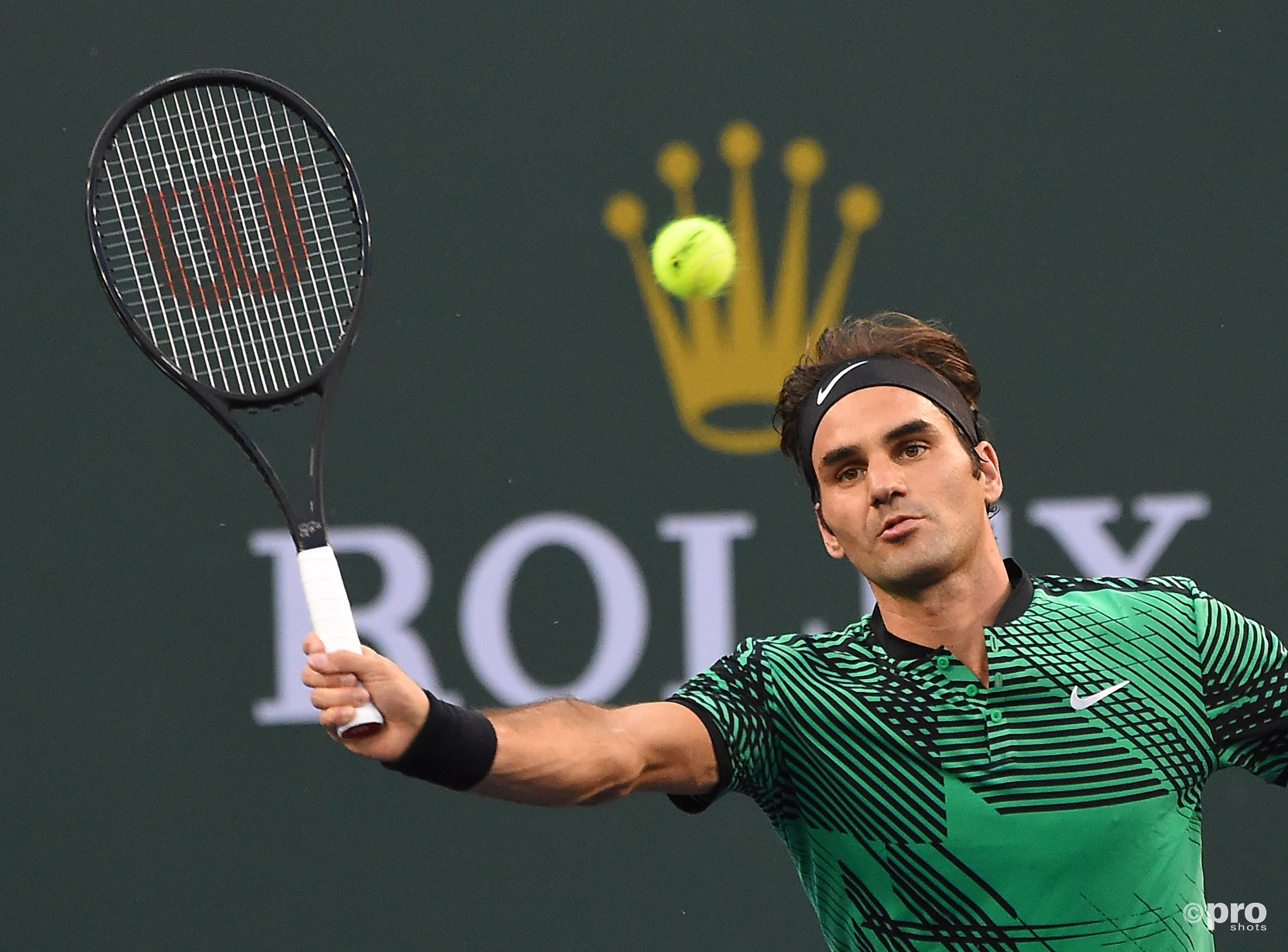 Federer in Indian Wells te sterk voor Nadal. (PRO SHOTS/Action Images)