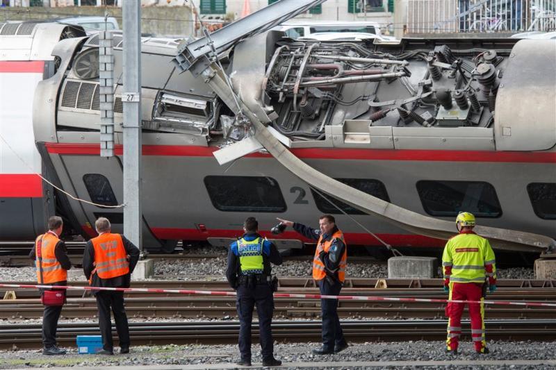 Gewonden bij ontsporing trein in Zwitserland