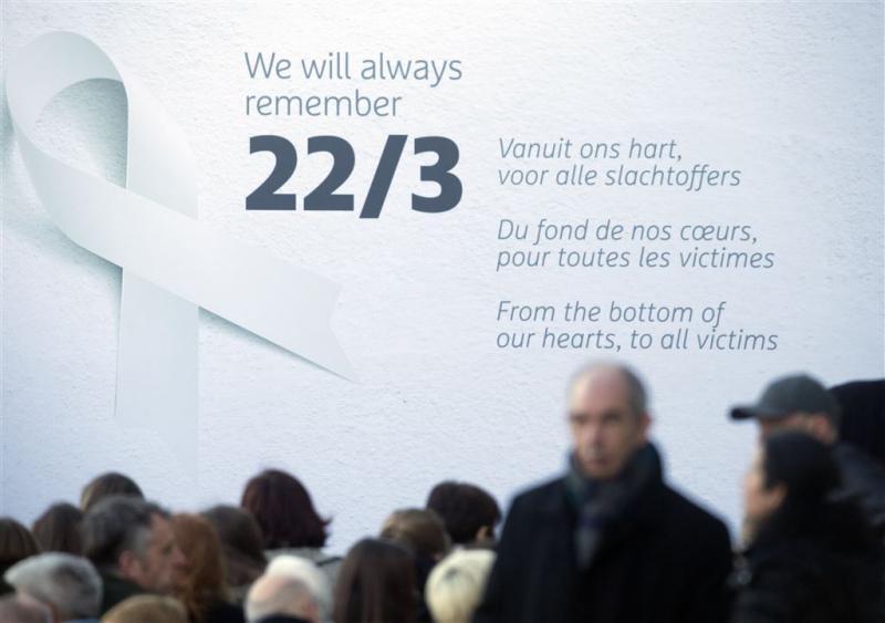 Stilte voor slachtoffers aanslagen Brussel