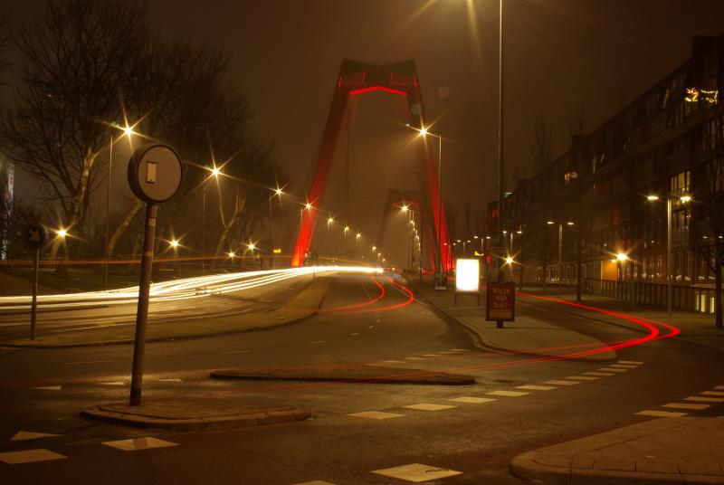 Rotterdam by night (Foto: Disbatch)