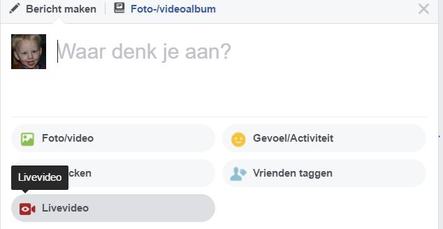 Facebook Live nu ook op vaste pc