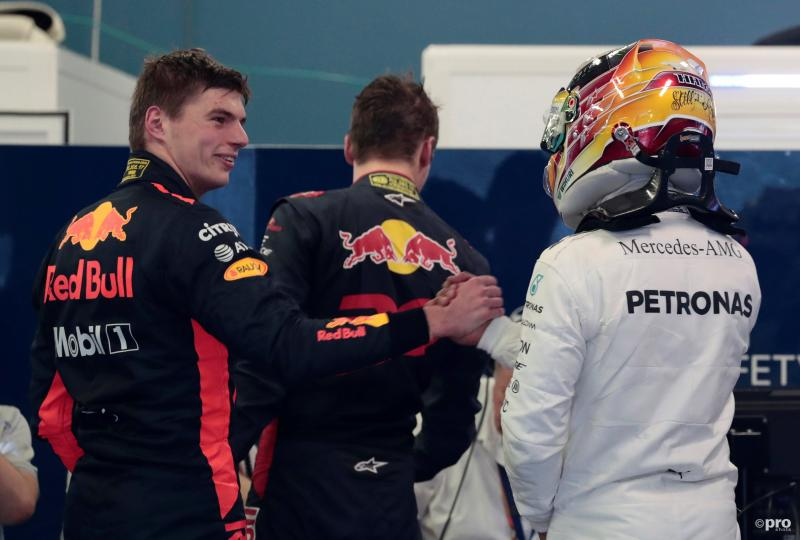 Verstappen feliciteerde na afloop Hamilton met diens pole position (Pro Shots / Action Images)