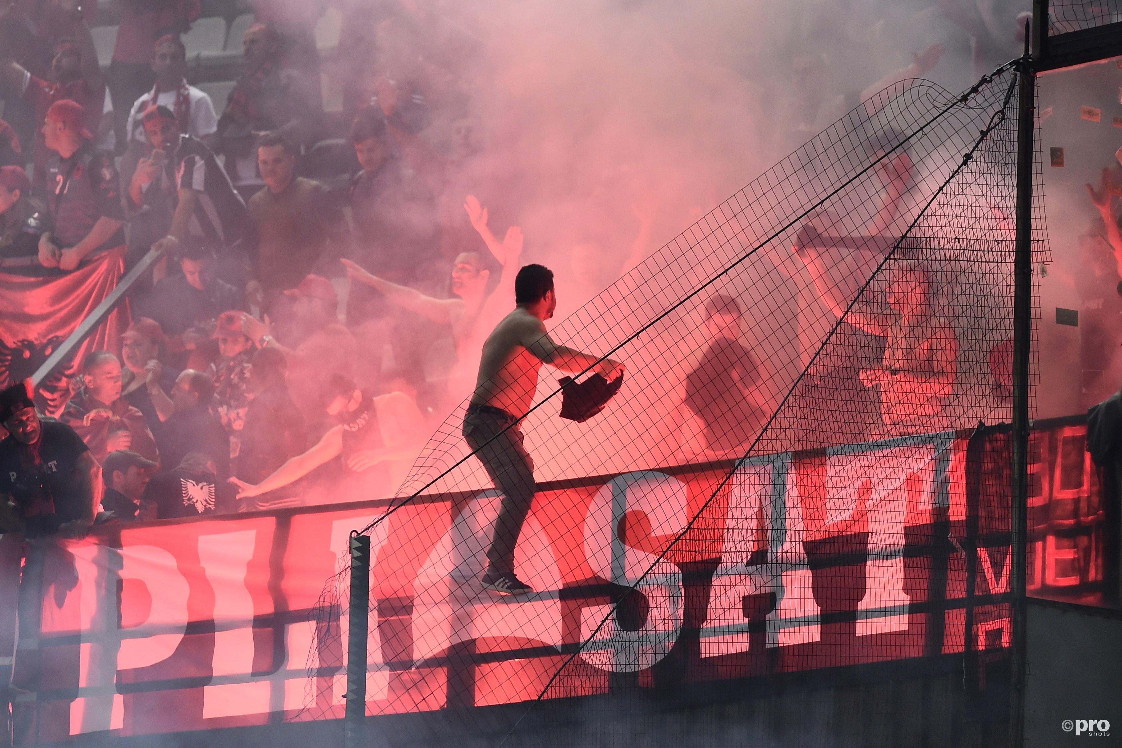 Vuurwerk uit het Albanese vak. (PRO SHOTS/Insidefoto)