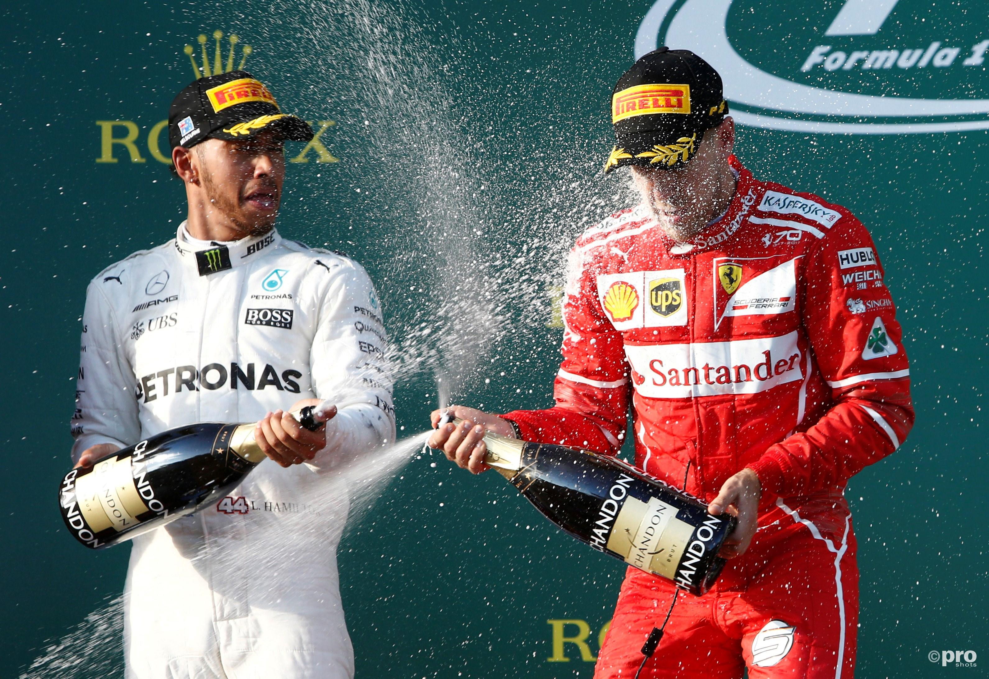 Hamilton spuit Vettel in het gezicht (Pro Shots/Action Images)