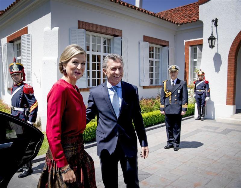 Koning ontvangt president van Argentinië