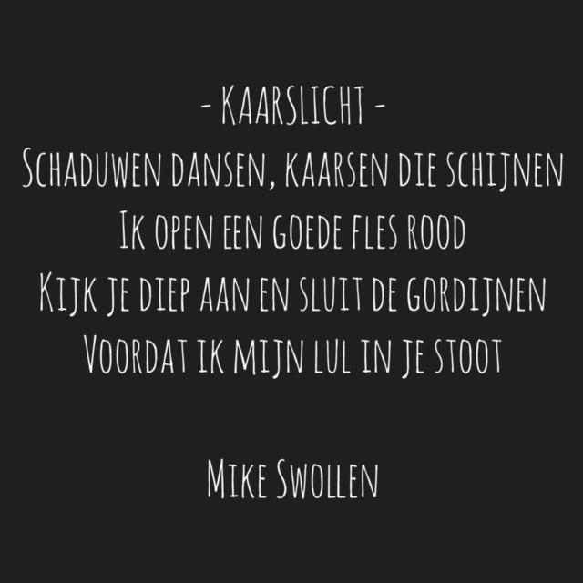 Swollinski gedicht Kaarslicht