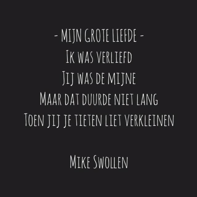 Swollinski gedicht Mijn grote liefde (Foto: Mike)