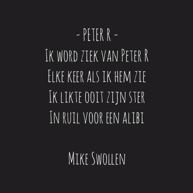 Swollinski gedicht Peter R (Foto: Mike)