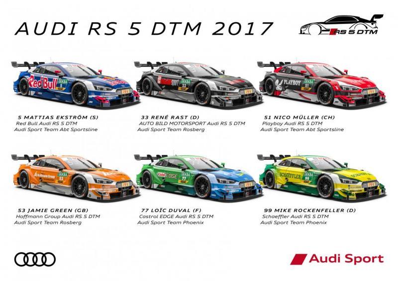 2017 Audi DTM overzicht coureurs (Foto: Audi MediaCenter)