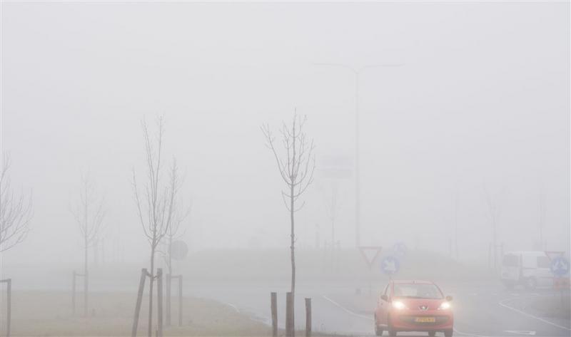 Waarschuwing voor mist in zuiden