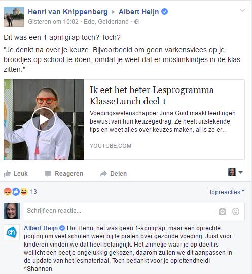 Albert Heijn: moslimpassage 'ongelukkig gekozen'