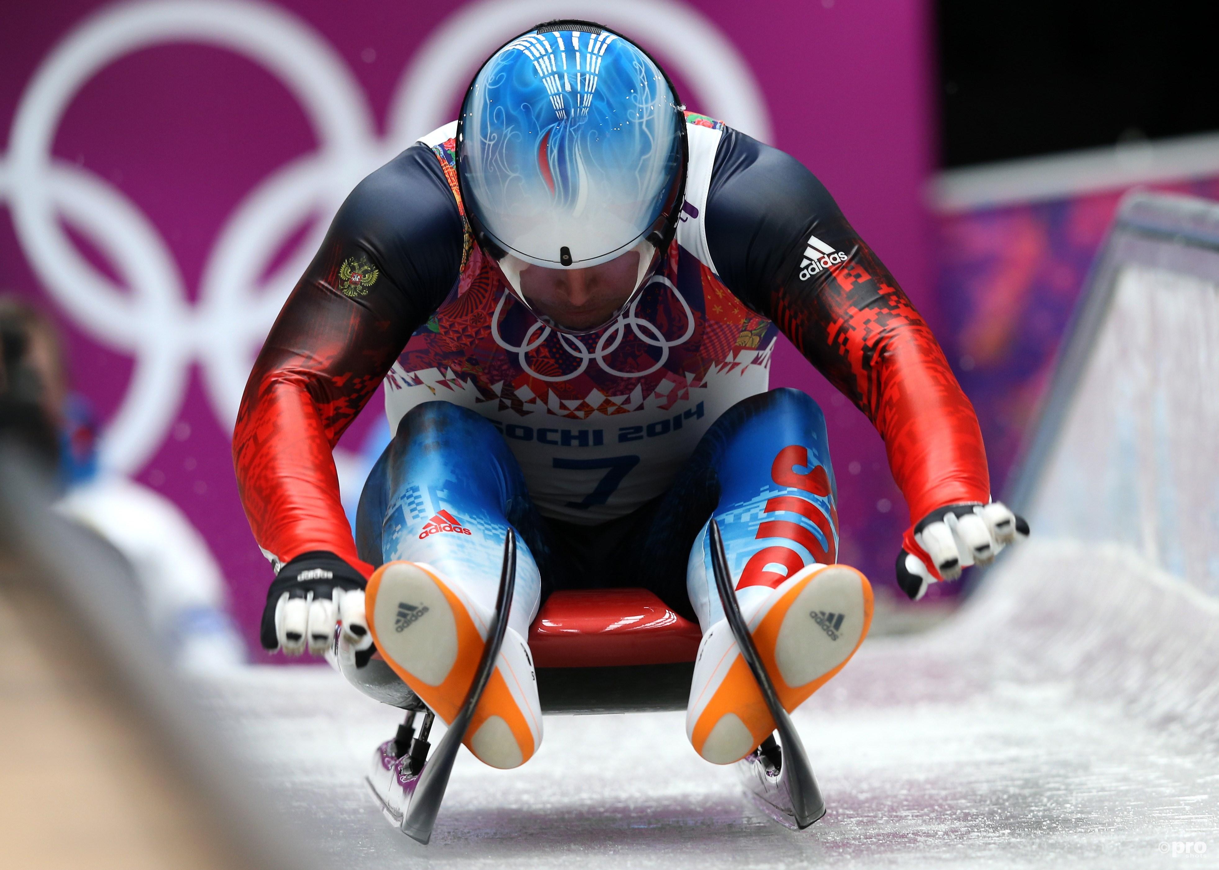 Albert Demchenko op weg naar olympisch zilver in Sochi tijdens zijn zevende Spelen (Pro Shots/Gepa)