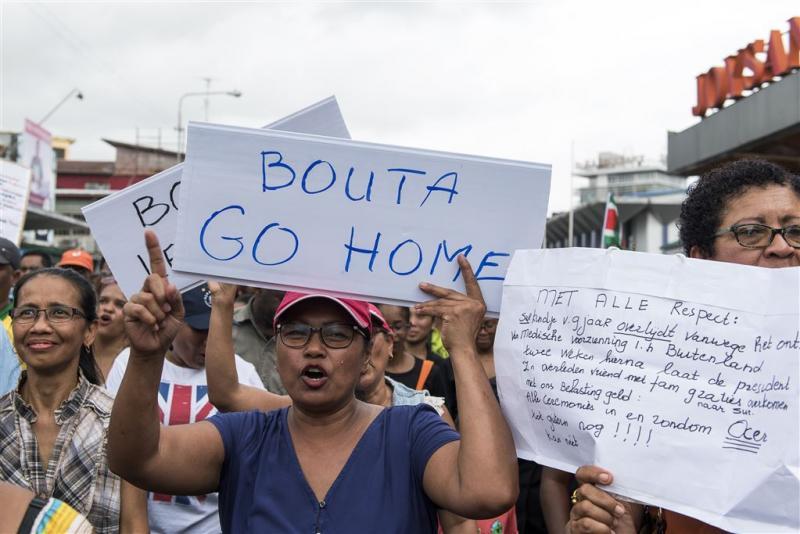 Protesten tegen regering-Bouterse gaan door
