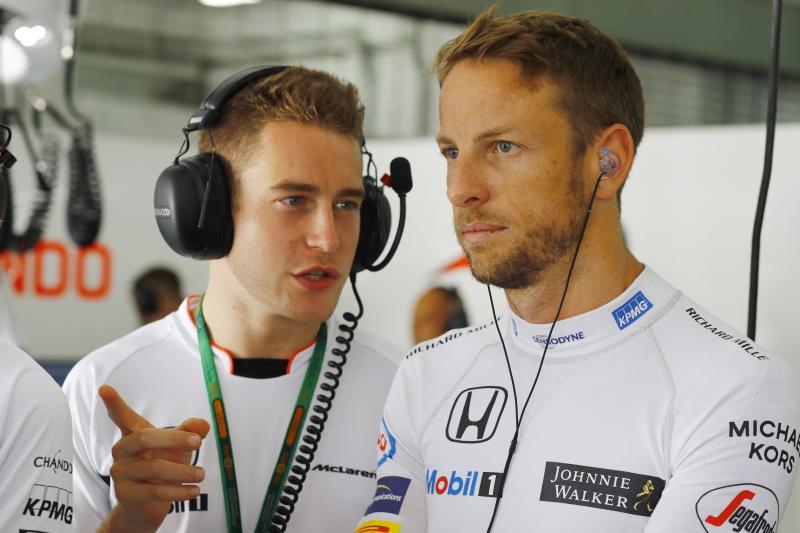 Jenson Button (rechts) vervangt Fernando Alonso in Monaco (Foto: McLaren)