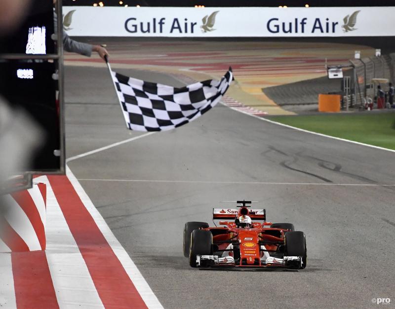 Sebastian Vettel zegeviert in Bahrein (Foto: Pro Shots/Action Images)