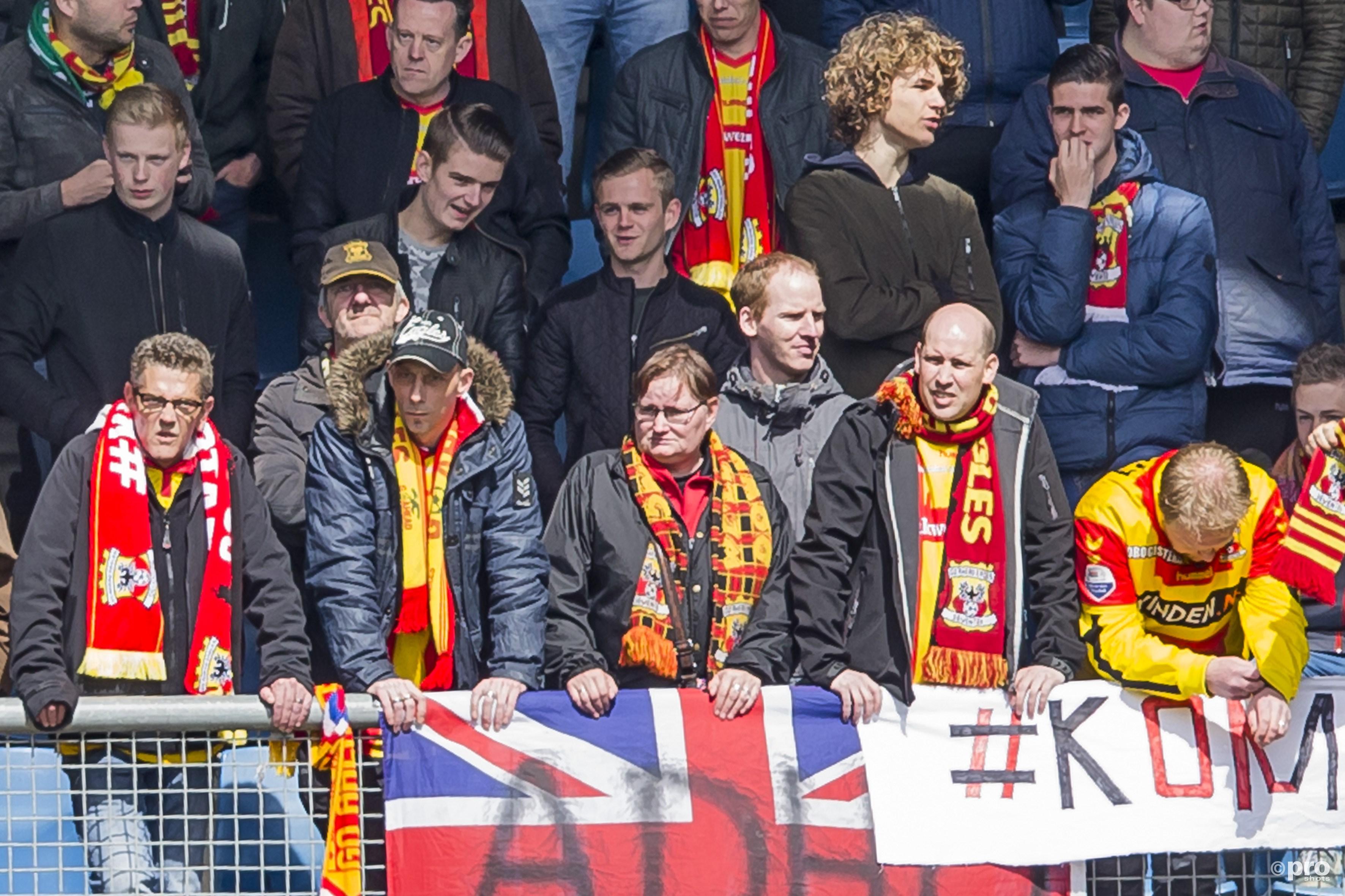 GAE-fans zien de bui al hangen. (PRO SHOTS/Erik Pasman)