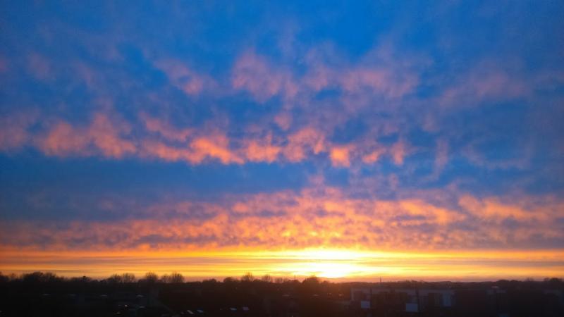 Zonsondergang in Alkmaar (Foto: DJMO)