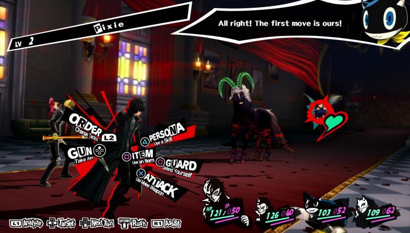 Persona 5 - Combat menu (Foto: Deep Silver)