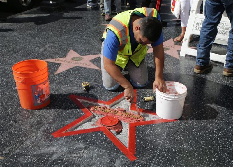 Walk of Fame-ster van Trump weer beschadigd