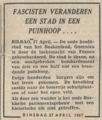 Uit het Volksdagblad van 27 april 1937