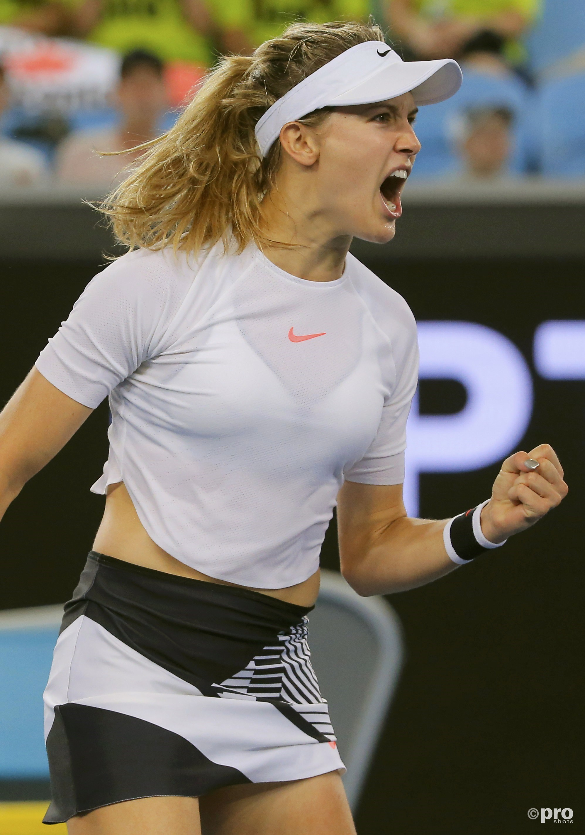 Eugenie Bouchard in actie (Pro Shots/Action Images)