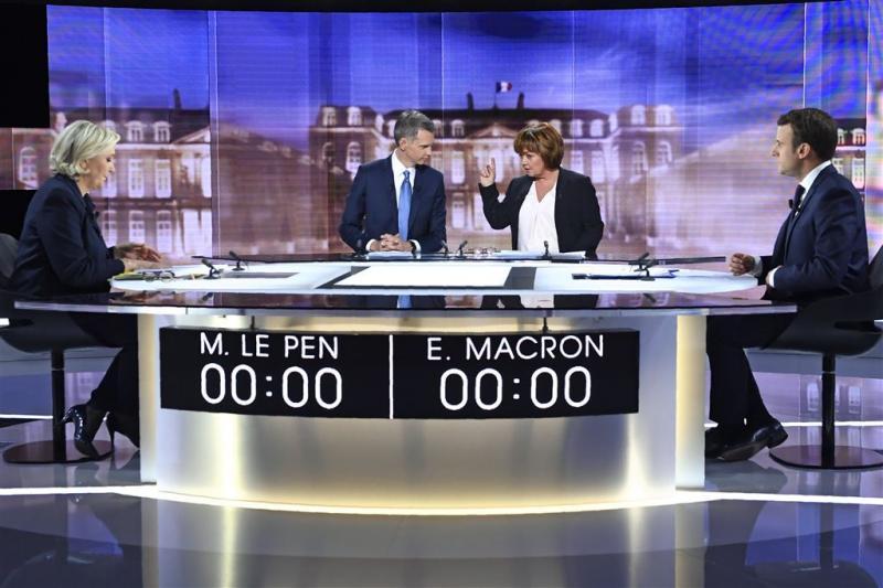Verhit debat Le Pen en Macron over veiligheid