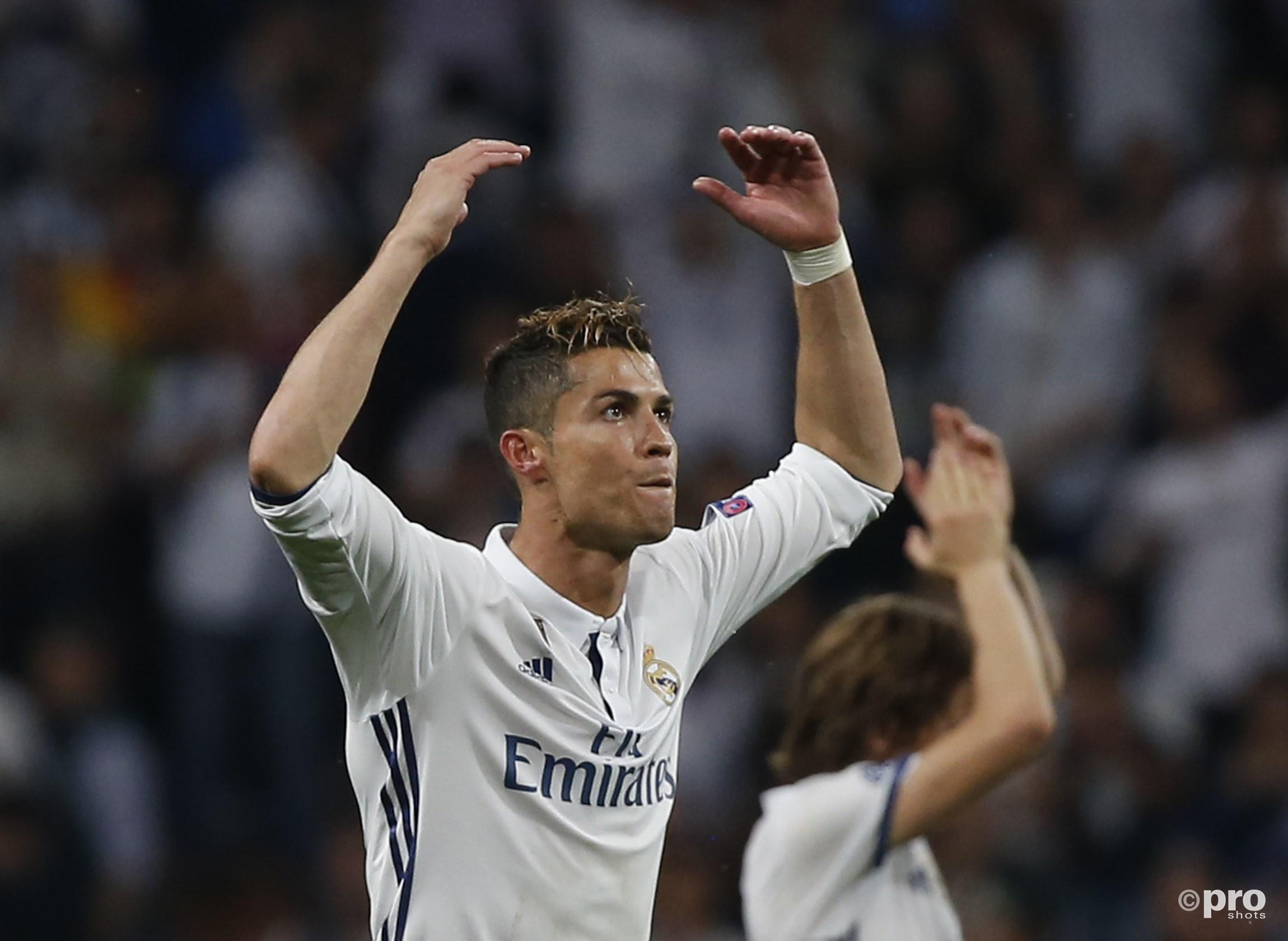 Ronaldo scoort weer eens. (PRO SHOTS/Action Images)