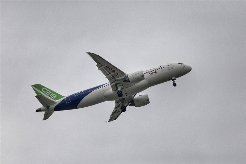 Succesvolle vlucht eerste passagiersjet China