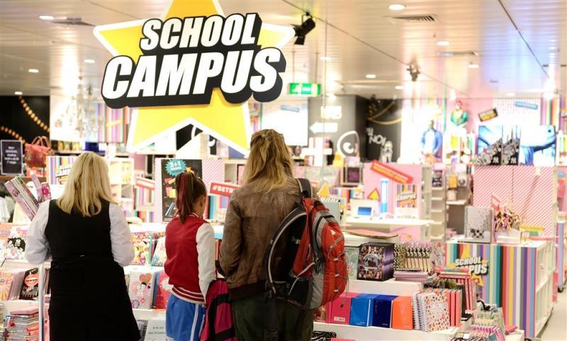 Schoolcampus van V&D bij Albert Heijn