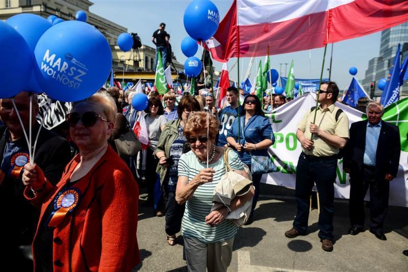 Mars tegen conservatieve regering Polen