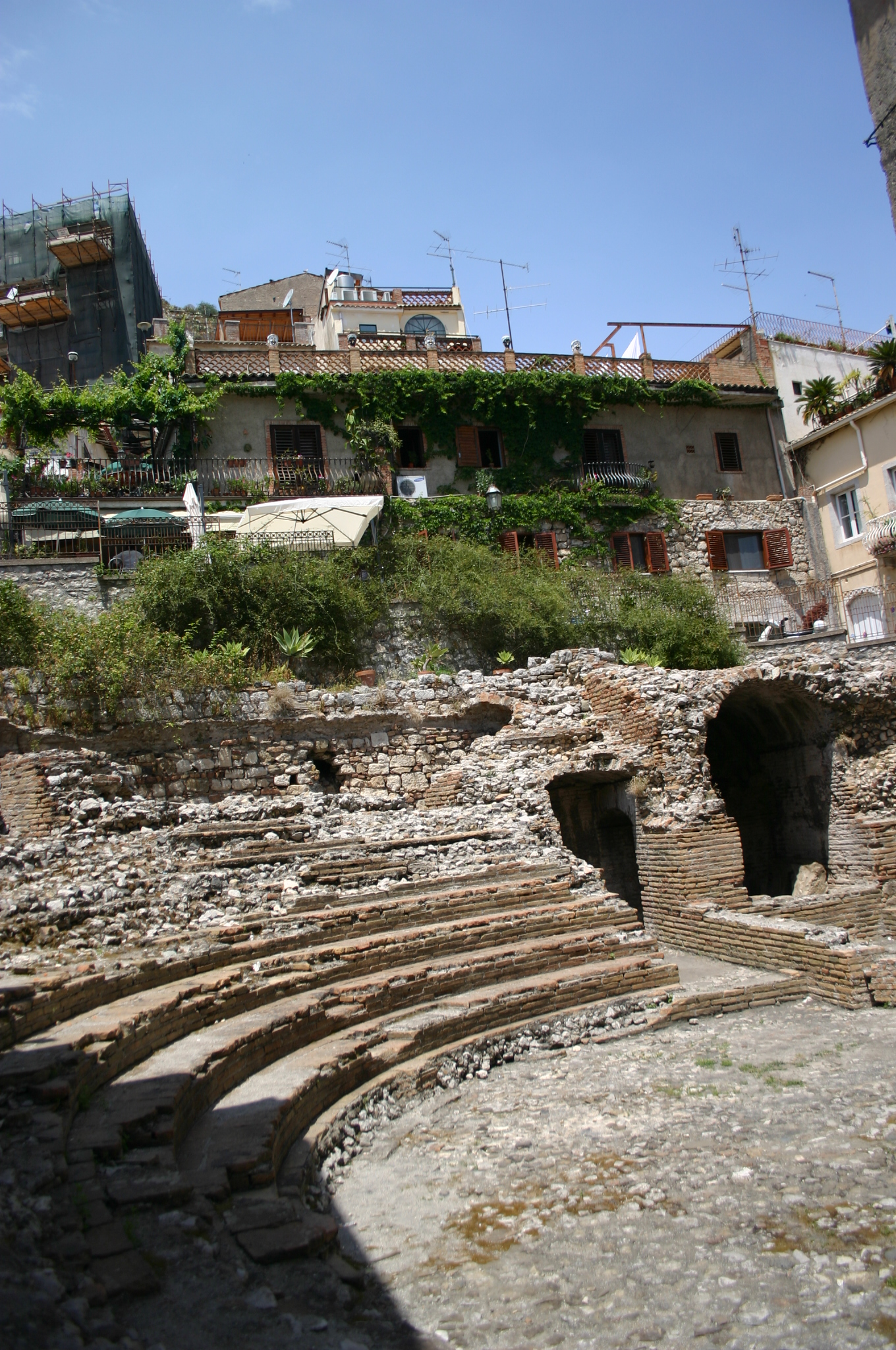 Een Romeins theater, midden in Taormina (Foto: WikiCommons/Giovanni Dall'Orto)