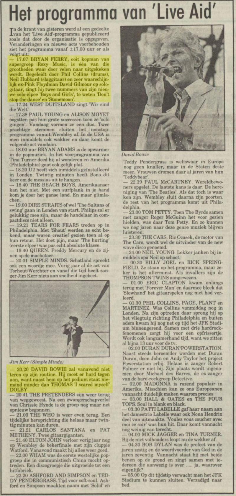 Uit het Nieuwsblad van het Noorden van 13 juli 1985