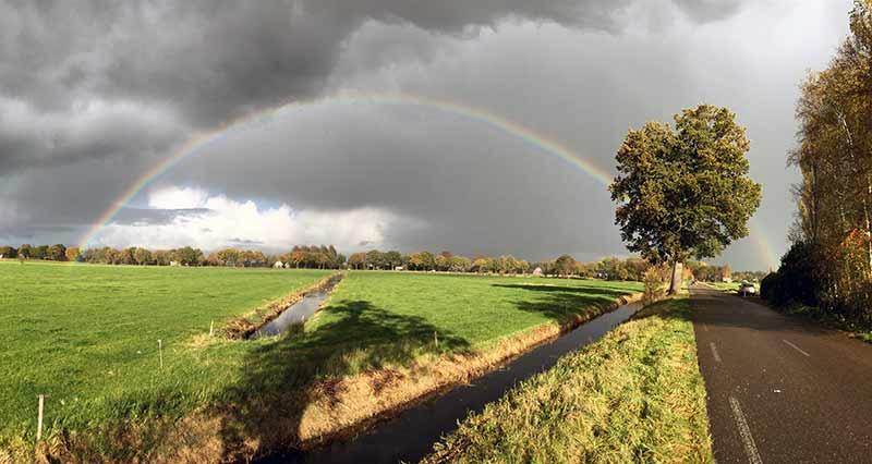 Regenboog in Gorredijk (Archiefoto: Paddo)