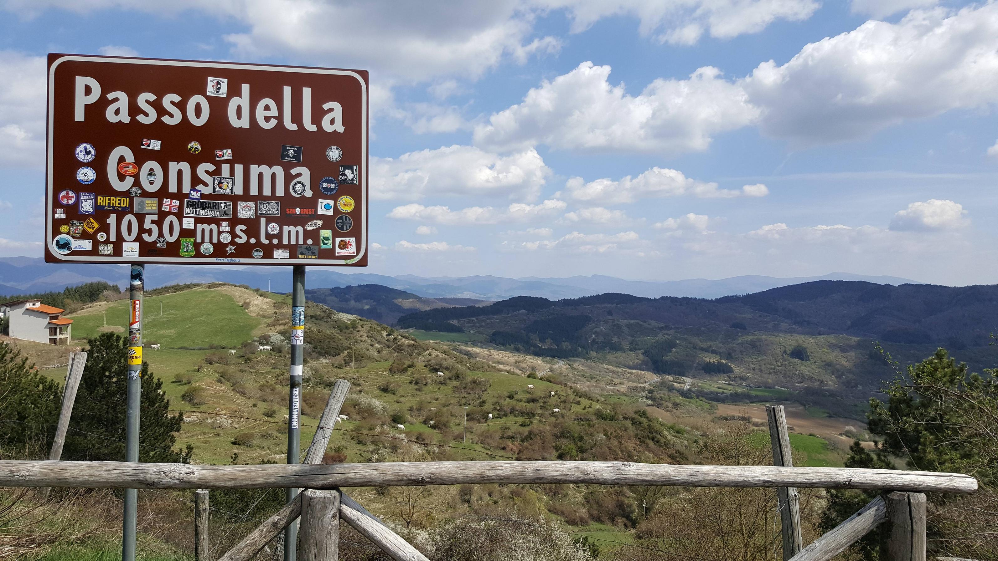 Bovenop de Passo della Consuma (Foto: Panoramio)
