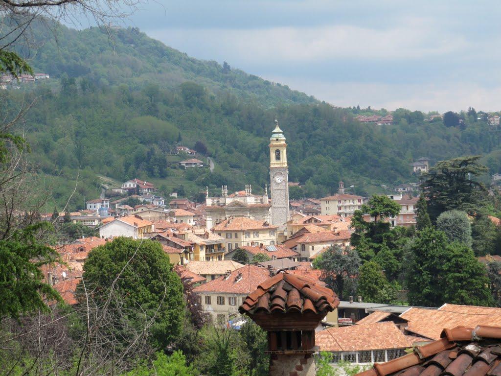 Biella, aan de voet van de slotklim (Foto: Panoramio)